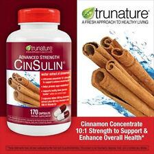 Trunature Advanced Strength CinSulin Cinnamon Chromium Picolinate D3 170 Cap