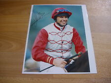 John Carroll horse racing jockey 07/4/98 original main Photo de presse signé