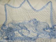 50 x 8 FT BLUE  Fishing  NET WEDDINGS Florida Nets BED BATH BARRIER TREES