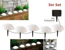 5er Set LED Solar Gartenstecker Solarstecker Halbkugel Garten-Deko-Leuchte Lampe
