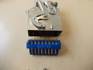 AMPHENOL,26-4301-16P,BLUE RIBBON CONNECTOR, 16WAY PLUG WITH TOP ENTRY COVER