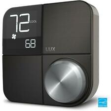Lux Kono Smart Wi-Fi Thermostat w/Black Stainless Steel Faceplate KN-S-MG1-B04