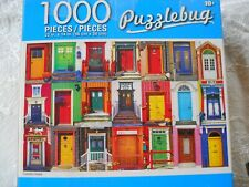 1 - 1000 PIECE PUZZLEBUG PUZZLE, DOORS,  EUC