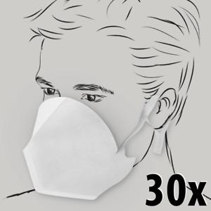 30 Stück Melitta Einweg-Gesichtsmasken aus 3-lagigem SMS-Vlies