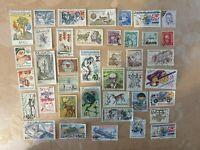 40 older ceskoslovensko  ( Czechoslovakia ) used stamps - Nice Examples