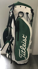 TITLEIST PLAYERS 4 STAND BAG WHITE GREEN LIMITED EDITION MASTERS COLOURS