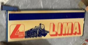 Insegna Vintage Trenini Lima Con Qualche Rottura Non Luminosa