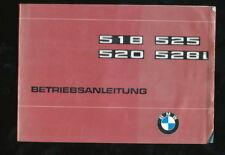 Betriebsanleitung BMW 518 520 525 528i 4.A. 1977 35./VII/77  Bedienungsanleitung