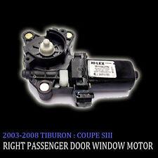 Right Side Door Window Motor For 2003 2008 Hyundai Tiburon : Coupe SIII