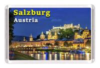 "Visit Salzburg Austria Art Photo Fridge Magnet Travel Souvenir 2/""x3/"""