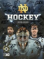 2019-20 NOTRE DAME HOCKEY FULL TEAM AUTOGRAPHED SIGNED PROGRAM RARE CAM MORRISON
