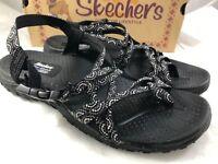 Skechers 10881 Black Happy Rainbow Sandals Women Size 9
