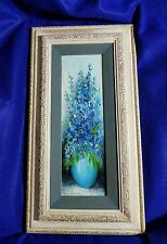 M Winterbottom Lilac still life oil on canvas signed