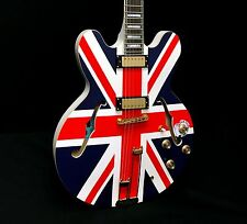 Epiphone Union Jack Sheraton Ltd Ed Semi-Hollowbody Electric Guitar w/ Case