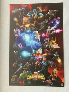 MARVEL CONTEST OF CHAMPIONS 11x17 Original Promo Poster NYCC 2019 MINT Iron Man
