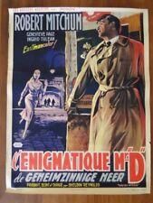 Affiche de cinéma ancienne. L'énigmatique Mr. D.