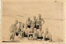 Militaria Germany WW2 Soldatein beim Baden Nude Nackt Boy France St. Gilles