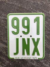 Moped - Kennzeichen, Nummernschild von 1971, Kreidler, DKW, Zündapp etc.
