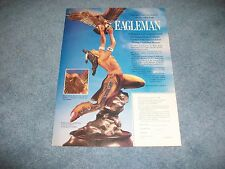 1990 Franklin Mint Ad For Eagleman Collectible Sculpture by Robert F. Murphy