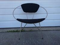 Vintage Retro Mid-Century Modern Eames Era 1950s Iron Framed Circle Hoop Chair !