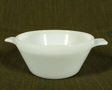 Vintage Glasbake White Milk Glass Tab Handle Bowls J-2446