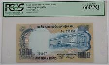 (1972) South Viet Nam National Bank 1000 Dong Note SCWPM#34a PCGS 66 PPQ Gem New