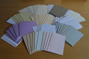 50 Assorted Blank Card and Envelope Bundle