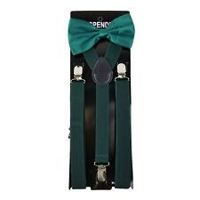 Suspender & Bow Tie Set for Adults Men Women Teens