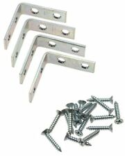 """Stanley 75-6241 Zinc Plated 2"""" Angle Corner Support Braces with Screws - 4Pk"""