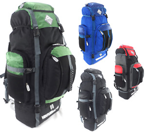 Extra Large 120L Hiking Camping Backpack Rucksack Luggage Bag Festival Travel