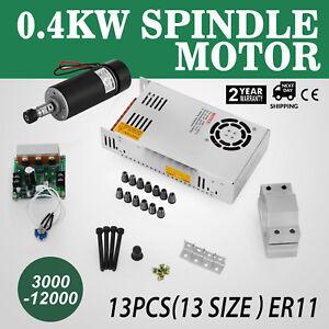 Fräsmotor 400W Frässpindel Spindle Motor + PWM Mach3 Drehzahlregler