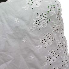 Scallop Eyelet Floral Patterned Cotton Embroidered Lace Trims Pack of 14 Yards