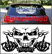 Skull peugeot power autocollant sticker tete de mort vitres 58x34cm rcz 308