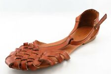 Seychelles Strappy Brown Synthetic Women Shoes Size 7.5 Medium (B, M)