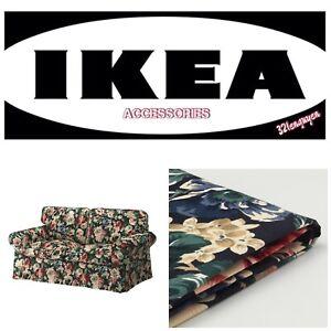 IKEA EKTORP Loveseat 2 Seat Sofa Slipcover Cover Lingbo Multicolor Floral - NEW