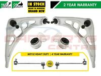 FOR BMW 3 SERIES E46 2 LOWER CONTROL SUSPENSION ARMS REAR BUSHES MEYLE HD LINKS