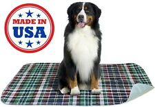 3 Pack Stain Fighter Waterproof Reusable/Quilted Washable Large Dog Pads 24x36