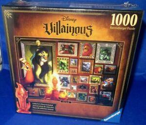RAVENSBURGER DISNEY VILLAINOUS LION KING SCAR 1000 PC PUZZLE, NEW SEALED IN BOX