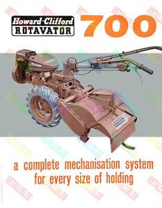 Howard Clifford 700 Rotavator Brochure