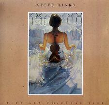 "Steve Hanks, ""1991 Fine Art Calendar"", 12 full color images, A collector's item"