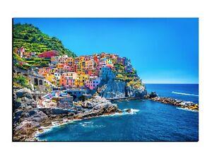 Alu-Dibond Wandbild Cinque Terre Italien Urlaub AB-602 Butlerfinish®