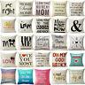 "18"" Cotton Linen Alphabet Printing Pillow Case Pillow Cover Cushion Cover"