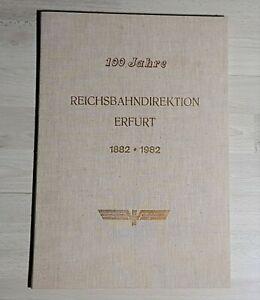 """Mappe mit 32 Drucken """" 100 Jahre Reichsbahndirektion Erfurt """" DR Reichsbahn DDR"""