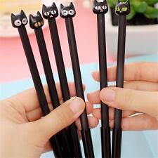 4PCS Kawaii School Supplies Stationery Black Cat Gel Ink Pen 0.5mm Office
