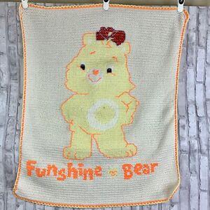 Handmade Afghan Funshine Care Bear Nursery Decor Crib Baby Blanket