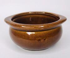 DCC USA Restaurant Ware Bowl Vintage Brown Glazed Pottery