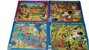 Vintage Jaymar Disney 30 Pcs Puzzles Movie Classics Lot Frame Tray Complete 🧩