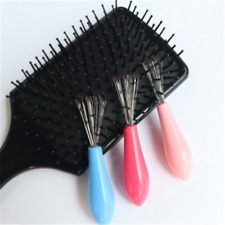Hair Brush Comb Cleaner Embedded Beauty Tool Plastic Cleaning Removable Handle
