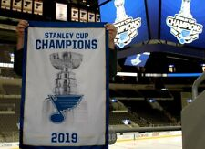 ST LOUIS BLUES 2019 STANLEY CUP CHAMPIONS REPLICA RAFTER CHAMPIONSHIP BANNER SGA