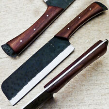 Elegant Custom hand Forged Railroad Spike Carbon Steel Fixed Blade Knife TM-26